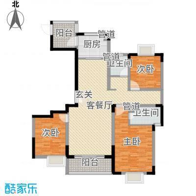 蓝岳首府130.00㎡F13000户型3室3厅2卫