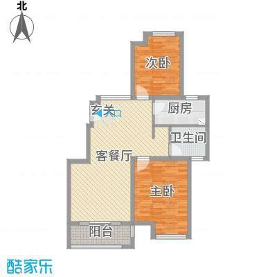 保利西塘越92.00㎡非标准层B17-1F户型2室2厅1卫1厨