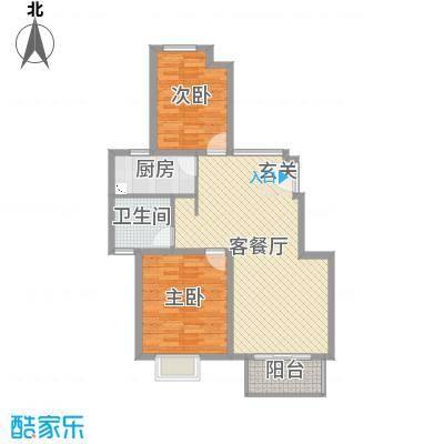 保利西塘越87.93㎡二期公寓非标准层8F-B24户型2室2厅1卫1厨