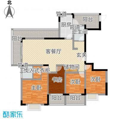 蓝岳首府160.90㎡G16090户型4室4厅2卫
