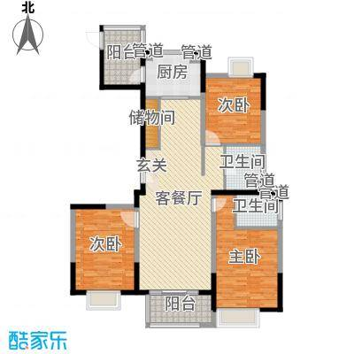 蓝岳首府140.59㎡J14059户型3室3厅2卫