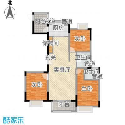 蓝岳首府137.94㎡k13794户型3室3厅2卫
