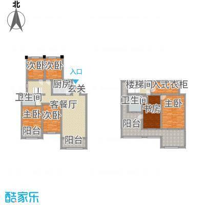 金水湾鑫园140.00㎡B1户型4室4厅2卫1厨