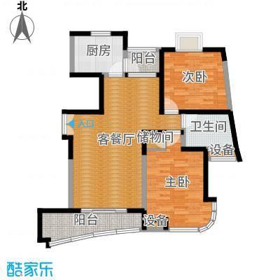 云山星座苑93.00㎡房型: 二房; 面积段: 93 -99 平方米; 户型-副本-副本