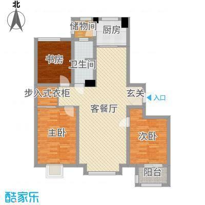 馨悦小区138.00㎡C1户型3室3厅1卫1厨