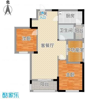 天瑞公馆116.78㎡户型3室3厅2卫1厨