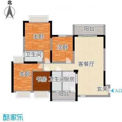 恒大帝景148.00㎡2座03单元户型4室4厅2卫1厨