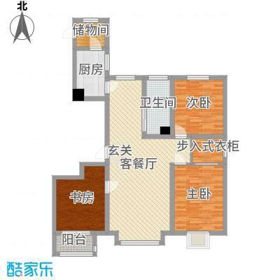 馨悦小区129.00㎡A2户型3室3厅1卫1厨