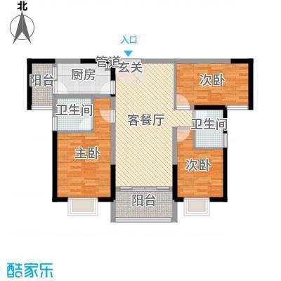 中山奥园110.00㎡S14、5栋03单位户型3室3厅2卫1厨