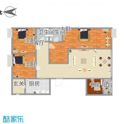 永祺西京二期78.00㎡两房户型2室2厅1卫-副本-副本