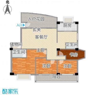 东方明珠花园156.00㎡1号户型-副本