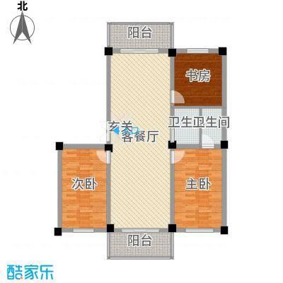和美雅苑116.40㎡户型3室3厅1卫1厨