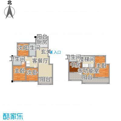 金水湾鑫园126.00㎡A1户型3室3厅2卫1厨