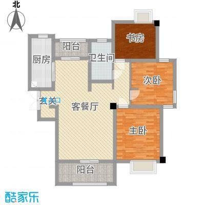 吴中豪景华庭114.33㎡5#D2户型3室3厅1卫1厨