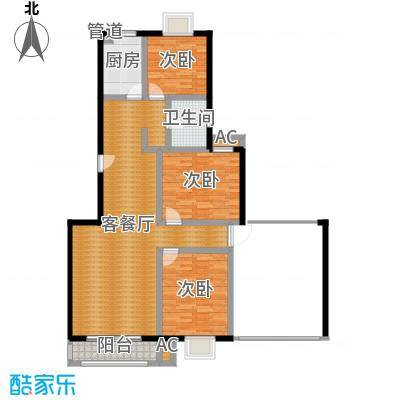 爱达花园紫藤园户型4室1厅2卫1厨-副本