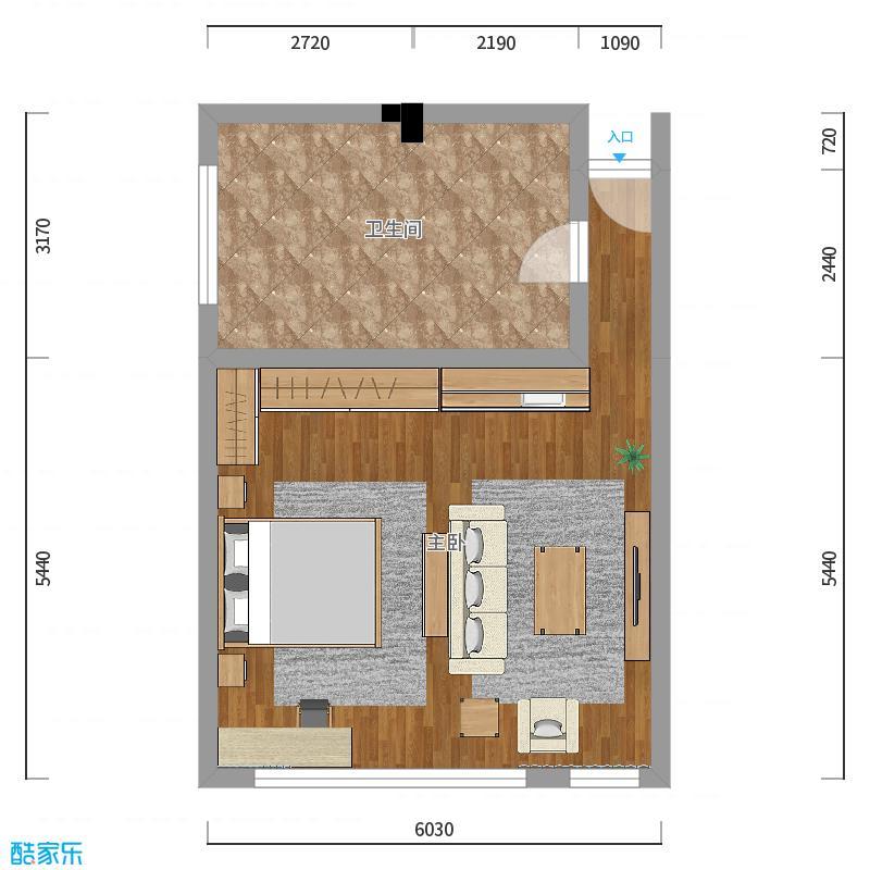 32方唐山-后现代-老人房效果设计_设计方案_装修效果图片