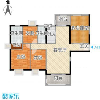 富雅国际138.00㎡10#01、11#01户型4室4厅2卫1厨