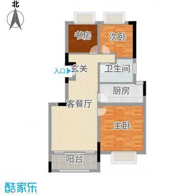 中港城世家89.00㎡A1(02)户型3室3厅1卫1厨