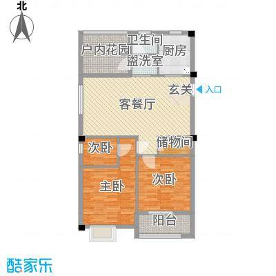 天瑞公馆102.10㎡7#楼(1)G1户型3室3厅2卫1厨