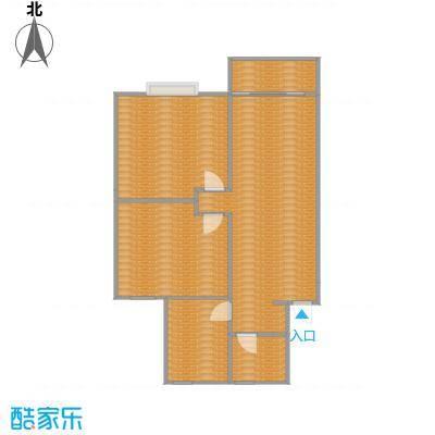 菊泉小区85方A1户型两室一厅