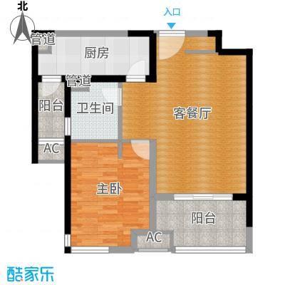 金地格林世界森林公馆70.00㎡上海户面积7000m户型-副本