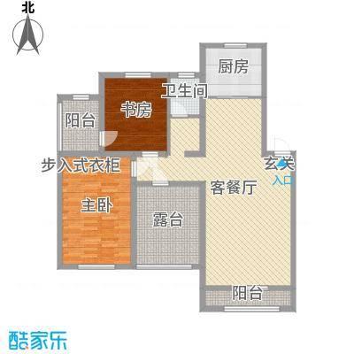 天格东湖湾98.66㎡D-3户型2室2厅1卫