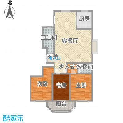 港澳花园168.00㎡L户型3室2厅2卫-副本