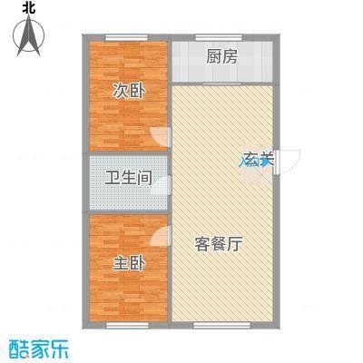 万有佳园114.69㎡户型2室2厅1卫1厨