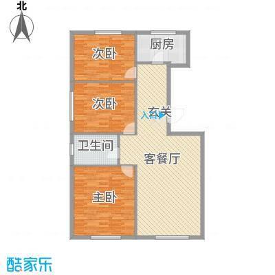 万有佳园132.04㎡户型3室3厅1卫1厨