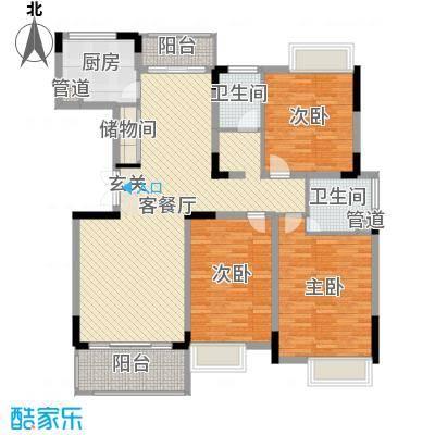 高能上城138.00㎡F1户型3室3厅2卫1厨
