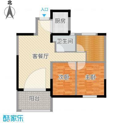 云厦·阳光福邸93.00㎡C户型3室2厅-副本