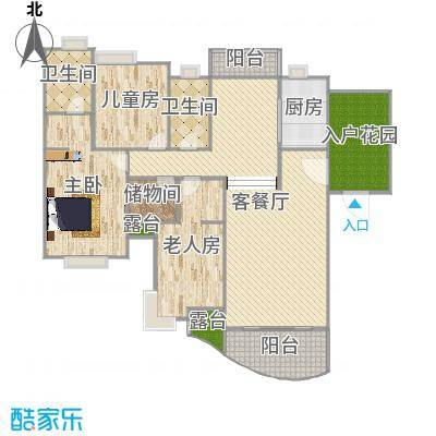 146平米E1-原始平面图-副本