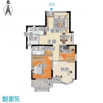 雯锦雅苑116.15㎡面积11615m户型-副本