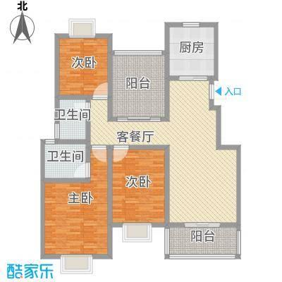 美岸青城幸福里123.00㎡美岸青城―幸福里户型图四期55幢L2户型3室2厅2卫1厨户型3室2厅2卫