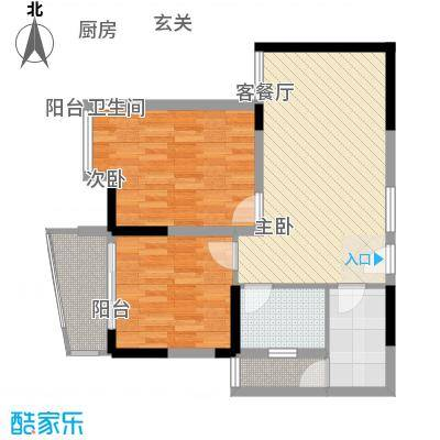 同人・怡和园一期4、11#楼标准层A2户型-副本