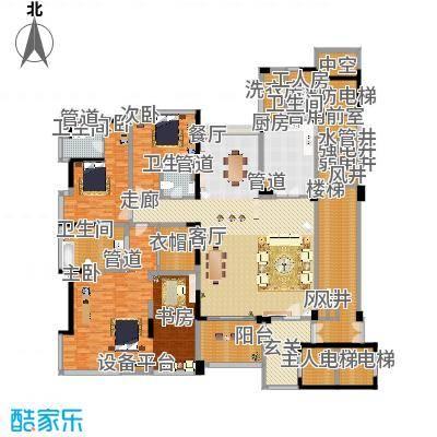 中铁·凤凰谷260.57㎡C1+工人套间户型3室2厅-副本