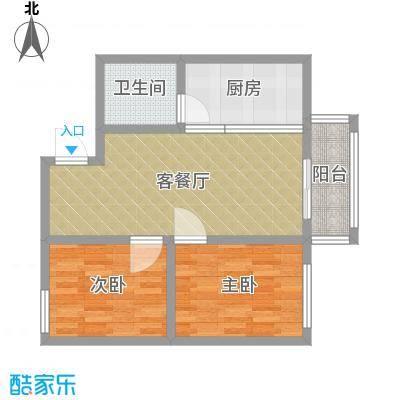 黎明之家两居室北面71平