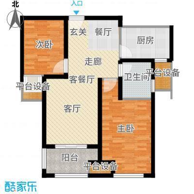 鑫苑景城户型2室1厅1卫1厨-副本