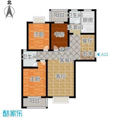 南阳桂花城御景138.58㎡3室2厅2卫1厨户型3室2厅2卫-副本