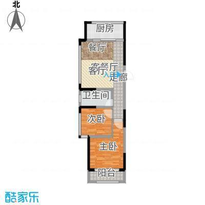 建东悦海湾83.45㎡户型2室2厅-副本