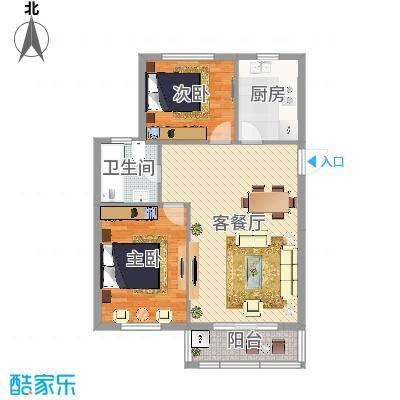 华光城2室1厅1卫100平米