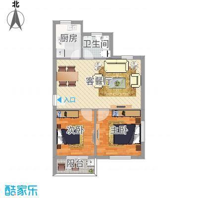 钱湖人家两室一厅一卫72平米