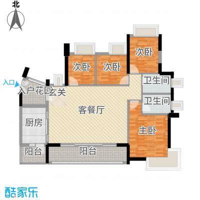 丽丰棕榈彩虹141.00㎡1/2幢02户型4室4厅2卫1厨