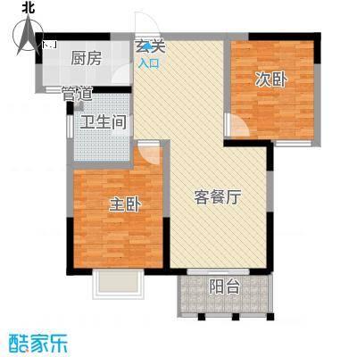 九龙官邸・碧水湾d2户型2室2厅1卫-副本