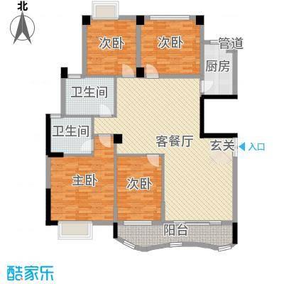 中地・滨江国际143.87㎡17#户型3室3厅2卫1厨
