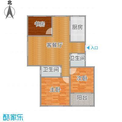 三室两厅一厨两卫110㎡