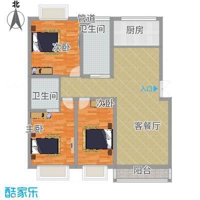 名城・运河佳园141.00㎡D2户型3室2厅2卫-副本