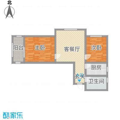 鑫泓三鑫园79.89㎡D户型2室2厅1卫1厨
