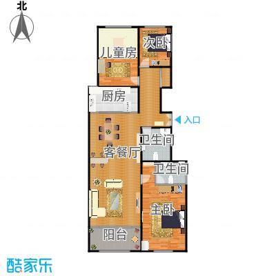 三室两厅两卫164.5平米