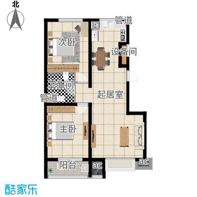 燕赵国际88.99㎡小高层K户型2室2厅-副本